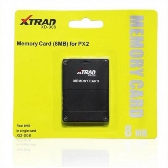 MEMORY CARD PARA PLAYSTATION 2 DE 8 MB XTRAD XD-008