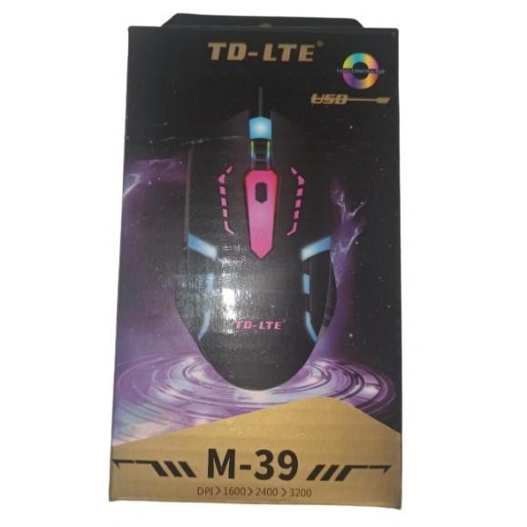 MOUSE GAMER ILUMINADO TD-LTE M-39