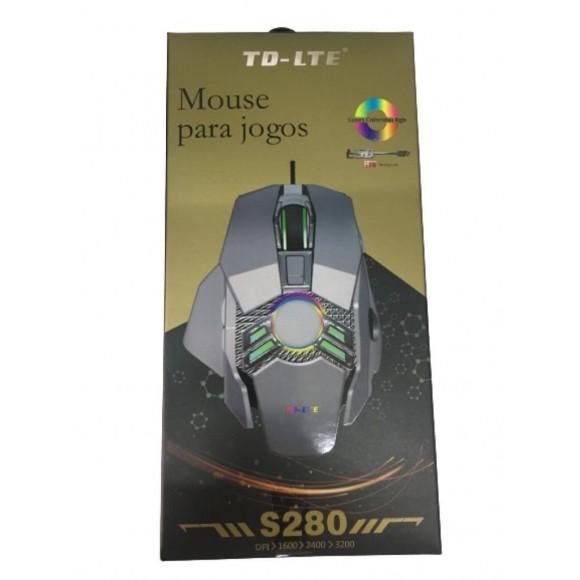 MOUSE GAMER ILUMINADO TD-LTE S280