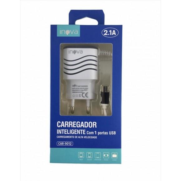 CARREGADOR MICRO USB 2.1A INOVA CAR-9012