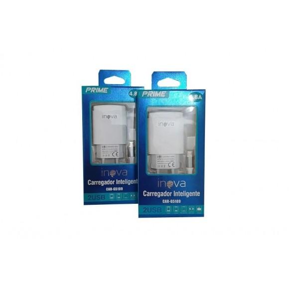 CARREGADOR MICRO USB 4.8A INOVA CAR-G5189