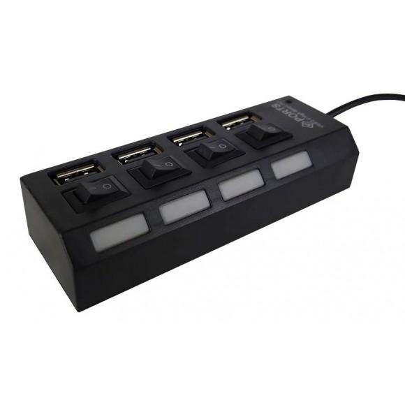 HUB USB 2.0 4 PORTAS XTRAD XT-2066
