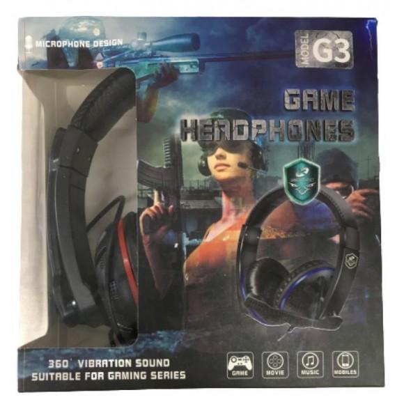 HEADPHONE GAMER COM MICROFONE G3