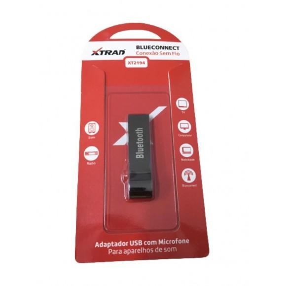 ADAPTADOR USB BLUETOOTH COM MICROFONE PARA APARELHOS DE SOM XTRAD XT2194