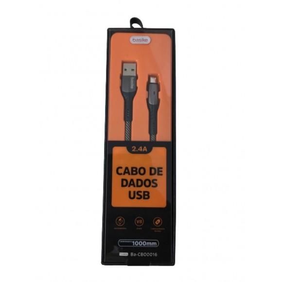 CABO USB V8 BASIKE 2.4A BA-CBO0016