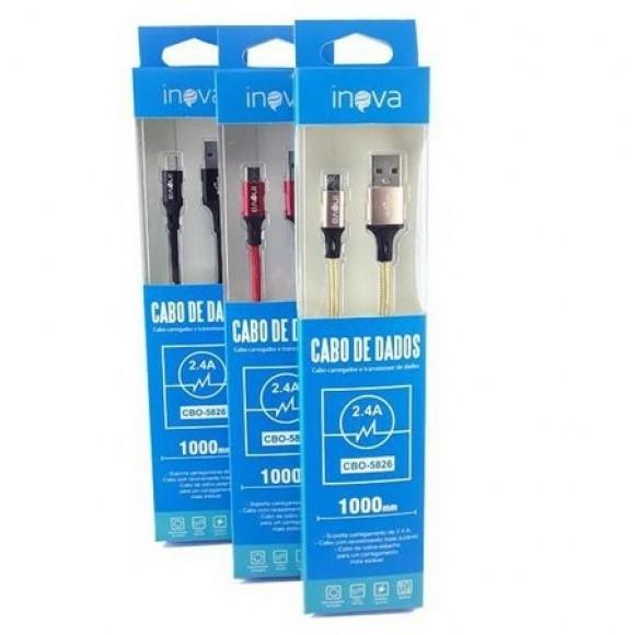 CABO DE DADOS USB 1METRO PARA IPHONE INOVA 2.4A CBO-5827