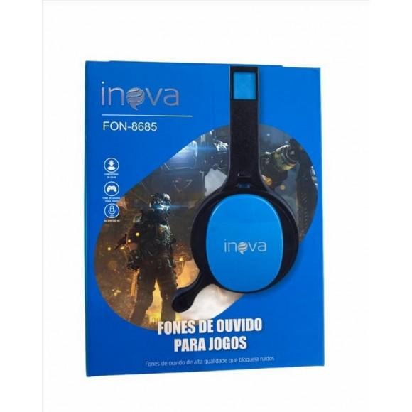 FONE DE OUVIDO PARA JOGOS COM MICROFONE INOVA FON-8685
