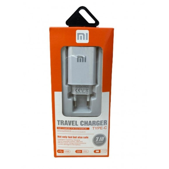 CARREGADOR TRAVEL CHARGE XIAOMI 3.1 TIPO C