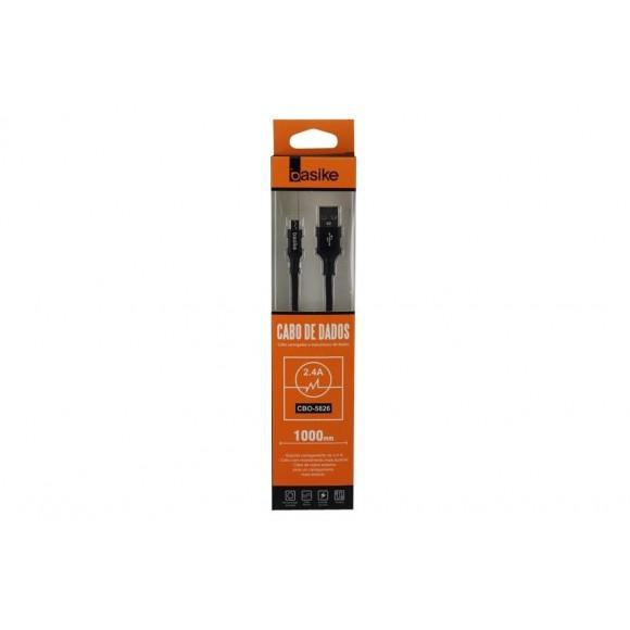 CABO MICRO USB V8 BASIKE 2.4A CBO-5826