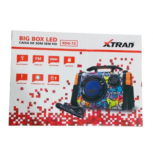 CAIXA DE SOM BLUETOOTH BIG BOX LED XTRAD XDG-72