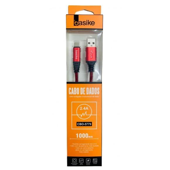 CABO MICRO USB V8 BASIKE 2.4A CBO-5779