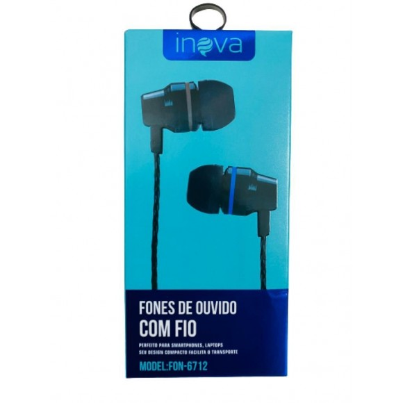 FONE DE OUVIDO COM MICROFONE INOVA FON-6712