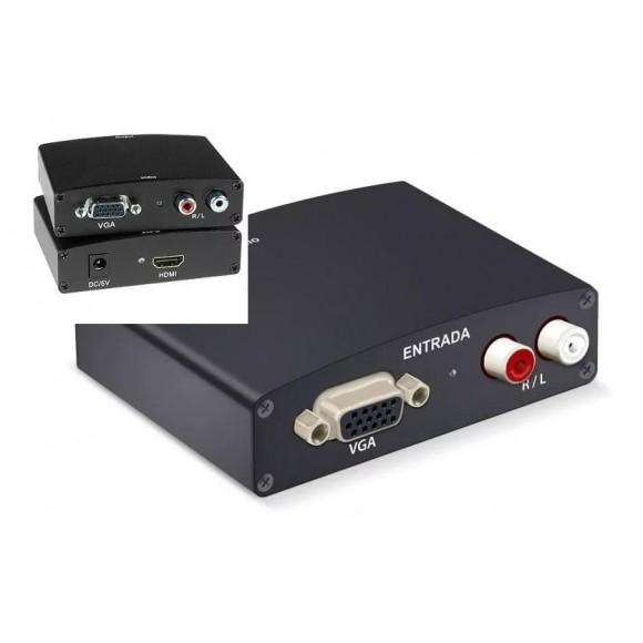 ADAPTADOR CONVERSOR VGA COM AUDIO PARA HDMI LELONG LE-4112
