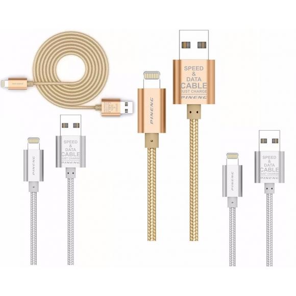 CABO DE CELULAR E CARREGADOR USB PARA IPHONE PINENG
