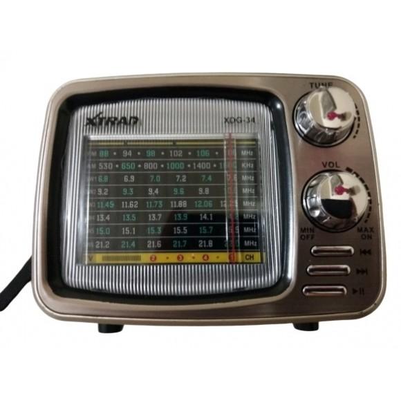 CAIXA DE SOM BLUETOOTH AM FM XTRAD XDG-34