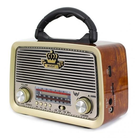 CAIXA DE SOM RETRO AM/FM XDG-33