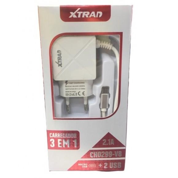 CARREGADOR PARA CELULAR 3 EM 1 XTRAD CH0299-V8