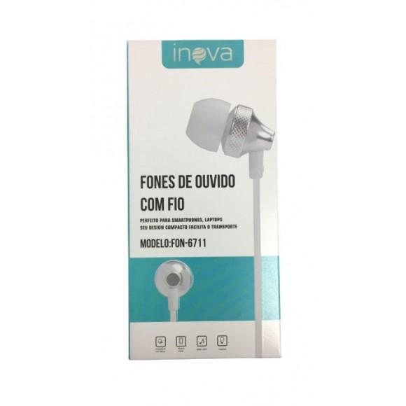 FONE DE OUVIDO COM FIO INOVA FON-6711