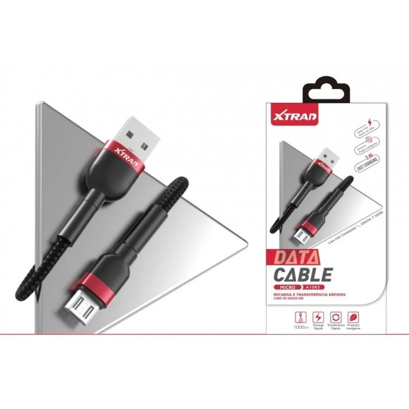 CABO DE CELULAR MICRO USB 2.4A XTRAD A1083